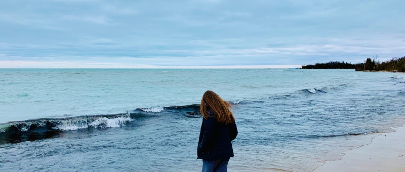 girl at a beach